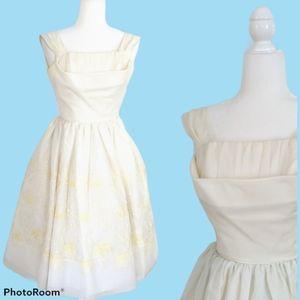 Vintage 1950s White Cupcake Tulle Wedding Dress